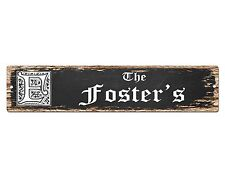 SP0693 The FOSTER'S Family name Sign Bar Store Shop Cafe Home Chic Decor Gift