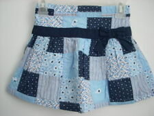 Janie and Jack Blue Skies Blue Patchwork Skirt Girl Size 4T 4 Euc Spring Summer