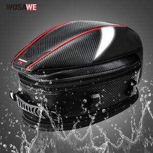 WOSAWE Motorcycle Tail Bags Helmet Bag Rear Seat Bag Back Waterproof Luggage