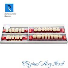 4pcs Set Acrylic Dental Lab Teeth Ruthinium Acryrock Teeth A3 Size 48 Full Mouth