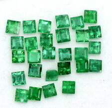 Natural Emerald Square Cut 2.50 To 2.70 mm Lot 10 Pcs 1.32 Cts Loose Gemstones
