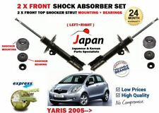 FOR TOYOTA YARIS 2005->NEW 2 X FRONT SHOCK ABSORBER SET + TOP MOUNTING + BEARING