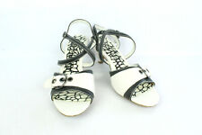 Court Shoes Tamiko Leather White and Black T 40/UK 6.5 Very Good Condition