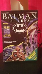 1992 Batman Returns Cereal Box. Opened and empty. No cereal. Priced to sell!