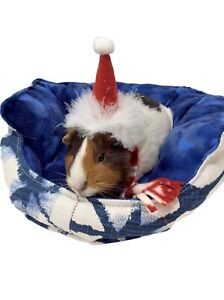 Christmas Outfit Costume Clothes for Guinea Pig Or Small Animal Santa Hat