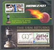 Australia-Cricket 2 min sheets -The Ashes- fine used cto-2006-2013/4