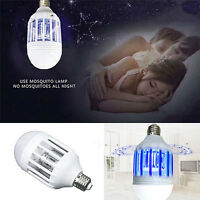 E27 15W LED Zapper Anti Mosquito Light Bulb Lamp Flying Insects Moths Killer YK