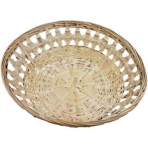 Bambusschale Brotkorb Osterkorb Geschenkkorb Obstschale rund 25 cm 3 Stück