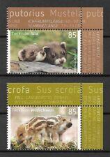 Germany Mi.nr. 3288-3289 (2017) Mint / Baby Animals ( Iltis, Wild Boar )