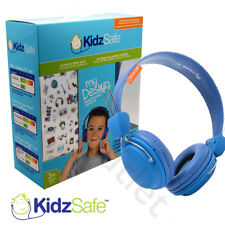 Kids Over Ear Headphones Kidzsafe Childrens Boys Earphones Blue for iPad/Tablet