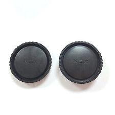 Set New Rear Lens Cap + Camera Front Body Cover for Sony E-Mount NEX-3 NEX-5