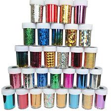 Nail Art Foil Wraps Transfer Glitter Sticker Decal Polish Decoration DIY 12pcs