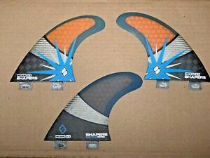 Shapers Fins surfboard fins Fcs base S5 thruster tri 3 fin set Medium Spectrum