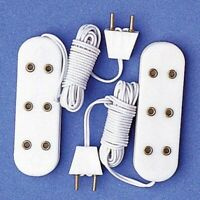 1/12 The Dolls House Emporium Triple/Three Socket Extensions pack of 2 7429