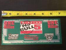 Vintage 1998 Pepsi Southern 500 Winston No Bull 5 One Million Dollar Bill Nascar