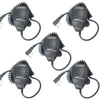5pcs/lot Microphone 2 Pin Baofeng PTT Speaker Mic for Kenwood UV-5R TYT WOUXUN