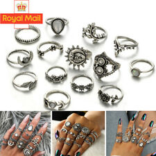 14pcs Silver/Gold Boho Stack Plain Above Knuckle Ring Midi Finger Tip Rings Set