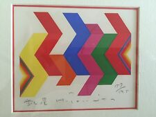 1970s HUMIO TOMITA Modernist Abstract Panton Era Serigraph Japan MCM Pop Op Art