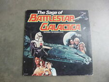 1979 Tv Saga of Battlestar Galactica Lorne Greene Narrated Vinyl Record Album @