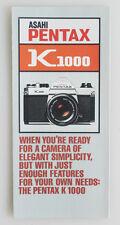 PENTAX K1000 INFO BROCHURE