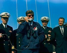 President John F. Kennedy on phone aboard USS Observation Island New 8x10 Photo
