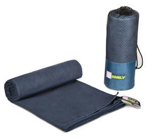 Extra Large Beach Towel Microfibre Quick Dry With Carry Bag 150cm x 200cm