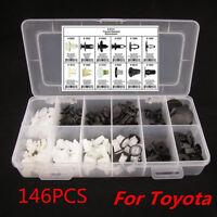 146Pcs Fender Door Hood Bumper Trim Clip Car Body Retainer Assortment For Toyota