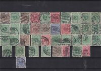 Germany early used Reichspost Stamps with good cancels Ref 14260