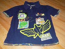 Boy's Size Medium 7-8 Disney Store Navy Blue Camo Toy Story Polo Shirt Top Woody