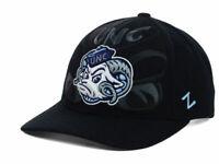 North Carolina Tar Heels Zephyr NCAA Covert Black Flex Fit Team Logo Cap Hat