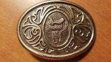 Cowboy Cowgirl Silver Color Avon Saddle Belt Buckle Western Rodeo Texas
