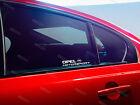 2 x Motorsport Aufkleber für Fenster passt Opel Astra Corsa Insignia Emblem Logo