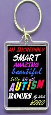 KEYRING AUTISM KID SON DAUGHTER  FRIEND RELATIVE  PROUD PARENT  Perfect Gift