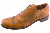 Levi's Mens Capital E Embossed Leather Oxford Shoes Cognac 2412-67 NEW