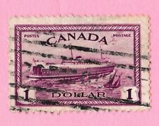 vintage stamp CANADA TRAIN FERRY SHIP 1946 #273