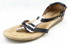 Clarks Size 8 M Black Gladiator Leather Women Sandal Shoes