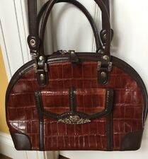 MARC CHANTAL MC Brown Faux LEATHER Handbag PURSE / Shoulder Bag. New