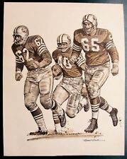 "1963 ABE WOODSON NFL ""BEST PLAYS OF THE YEAR"" VINTAGE PRINT BY ROBERT RIGER"