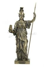 Greek Goddess Athena Statue God of War & Wisdom Sculpture Figurine Mythology