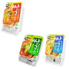Korean Rice Noodle wt Stock Instant Convenience Fd Ht Water 4 min 3 Flavor Kimch