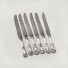 New Kings Dinner Knives Set Roden Bros Sterling Silver Canada