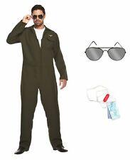 Aviator Costume Pilot Uniform 80 s Fancy Dress Costume pour homme pilote de la Force aérienne robe