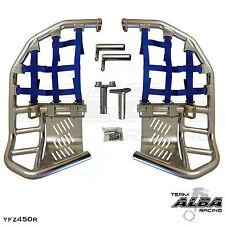 Yamaha YFZ 450R 450X  Nerf Bars  Pro Peg  Alba Pro Elite  Silver Blue 251 T7 SL