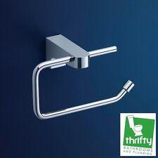 Dorf Arc Bathroom Toilet Roll Holder Chrome on Brass