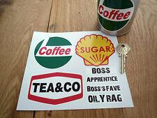 Taller de té, café y azúcar Etiqueta Set Con Taza Etiquetas Frasco raceshop
