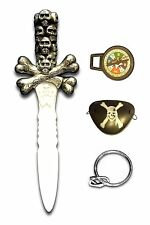 Pirates Sword Crossbone Compass Eye Patch Party Wear Toy White Plastic New