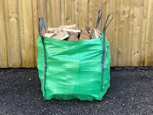 Builders Bag of Kiln Dried Firewood Logs Wood Log Burner Open Fire Bulk Bag