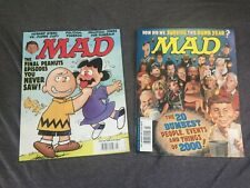 Vtg Mad Magazine Lot of 2 (No. 393 May 2000And No. 401 January 2001)