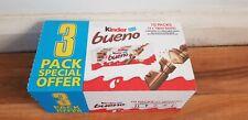 Kinder Bueno Twin Bar Chocolate 43g Case of 10 x 3 Multipacks