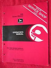 Vintage Original John Deere 666 Snow Blower Operators Manual